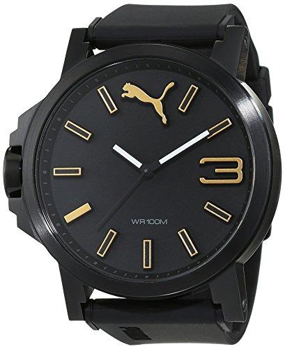 PUMA Unisex-Adult Quartz Watch, Analogue Classic Display and PU Strap PU103461020