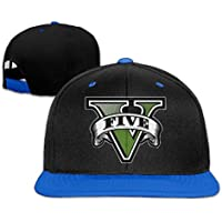 huseki GTA Five Logo Snapback Adjustable Hip Hop Gorra de béisbol/tiene for Unisex Royal Blue