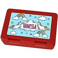 Brotdose mit Namen Vanessa - Motiv Einhorn, Lunchbox mit Namen, Frühstücksdose Kunststoff lebensmittelecht preisvergleich bei kinderzimmerdekopreise.eu