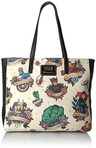 loungefly-damen-strandtasche-mehrfarbig-bunt