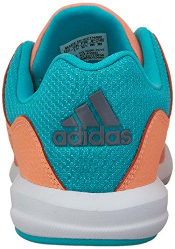 Baskets adidas S�Flex pour petit gar�on en bleu Sun Glow Yellow/Vivid Mint/White