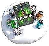 NICK and BEN Aufblasbarer Getränke-Halter fürs Wasser schwimmende Luftmatratze Bierkühler 60 cm Garten Pool Party und Strand
