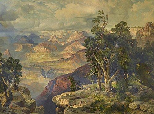 Thomas Moran Giclee Arte Carta Stampa Opere d'Artee Dipinti Poster Riproduzione(Grand Canyon da Hermit Rim Road)