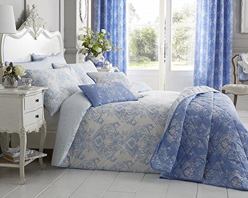 Bellissimo Toile Boudoir-Kissen, Polyester-, blau, 50x 30x 12cm, grau, 50 x 30 x 12 cm