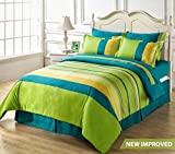 #8: HighLife 120 TC Ahmedabad Cotton 1 Bedsheet with 2 Pillow Covers - All New Blue/Green