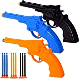 TE-Trend 3 Stück Pistolenset Klebepfeile Kinderpistole Pfeile Saugnapf Spielzeug Pistole 3x3 Saugnapfpfeile Kinder