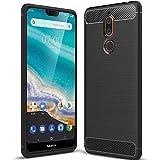 tomaxx Schutzhülle für Nokia 5.1 Plus [2018] Hülle Schutzhülle Silikon Case Tasche Carbon Schwarz für Nokia 5.1 Plus 2018