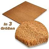 Kokos Fußmatte extra hoch (30mm), natürlicher Schmutzstopper für Innen- und Außenbereiche, drei Größen (50x80cm)