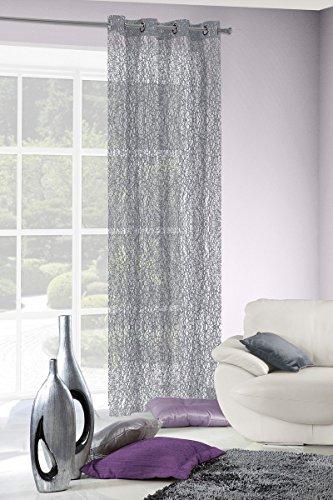 Eurofirany fir/selena/stal tenda selena, con occhielli, 140 x 300, grigio