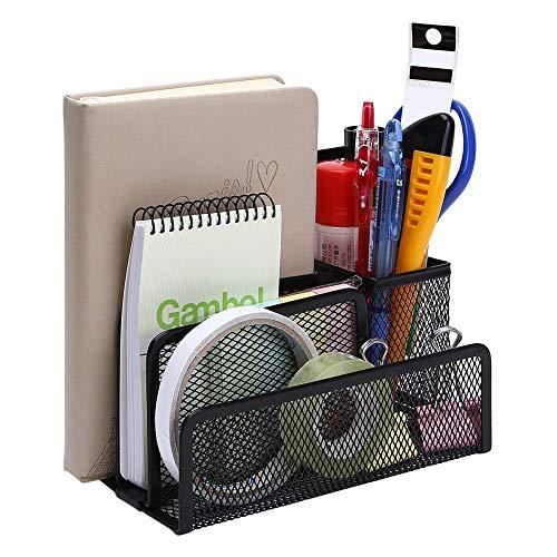 AFDK File rack in rete metallica, organizer per posta da scrivania, organizer per file desktop da ufficio con smistatore per lettere minuscole con 3 scomparti verticali verticali