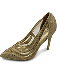 DADAWEN Zapatos de Cordones de Material Sintético Para Mujer, Color Rosa, Talla 35.5