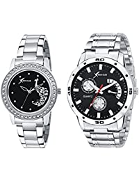 Rich Club Analogue Black Dial Men's & Women's Couple Watch (D5Mor+27-Blk)