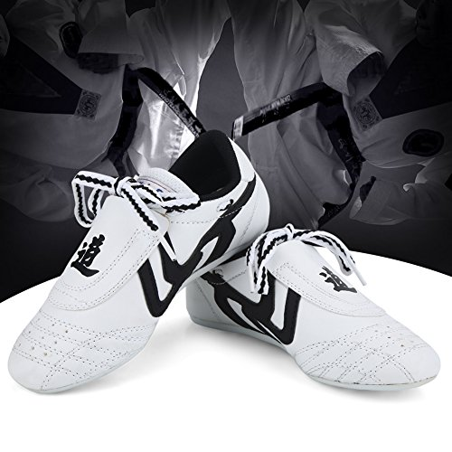 Taekwondo Schuhe Sneaker Kampfkunst Schuhe, Kinder Teenager Kampfkunst Training Schuhe Sport Boxen Karate Schuhe für Taekwondo, Boxen, Kung Fu, Taichi(35 Size Suitable for 215mm Foot Length) -