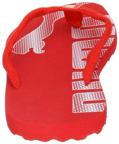 PUMA Unisex - Child Epic Flip Jr Flip-Flops Red Rot  high risk red-white 02  Size  2 5
