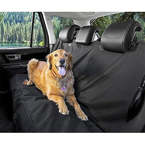 Tri-polar universal 600D Oxford tela impermeable Tear Banco Prueba de coches Cojín cubierta lavable a máquina para mascotas Hamaca de coche del animal doméstico para los SUV, automóviles, camionetas y vehículos, Negro