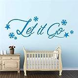 pegatina de pared 3d Let It Go Frozen Wall Sticker Quote Camera dei bambini Fiocchi di neve Decalcomania della decorazione della parete Fai da te Decor Wall Sticker