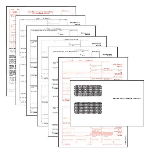 Tops 1099verschiedene Einkommensteuer Formen Kit, weiß, 24Formen, 24Umschlägen, und 1Form 1096(22905kit)