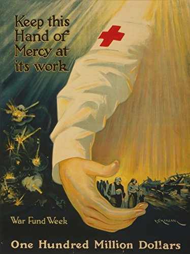 pg-morgan-poster-1918-keep-this-hand-of-mercy-at-its-work-one-hundred-million-dollars-artistica-di-s