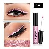 Liquid Eyeliner, Shage Chamäleon Metallic glänzend Smoky Eyes Lidschatten Wasserdicht Glitter Liquid Eyeliner (H)
