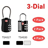 sourcingmap® Luggage 3 Digit Lock TSA Approved Lock for Travel Suitcase & Baggage CJSJ Authorized