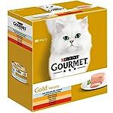 Purina Gourmet Gold Mousse comida para gato Surtido Carne y Pescado 8 x 85 g