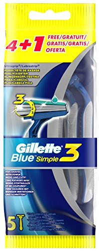 Gillette+Einwegrasierer+Blue+Simple3,+4+++1+GRATIS
