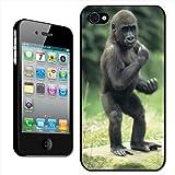 Fancy A Snuggle Coque rigide à clipser pour Apple iPhone 4/4S Motif bébé gorille