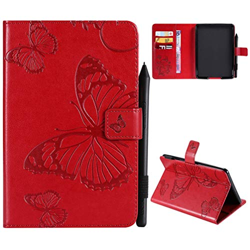 Kindle Paperwhite Hülle Kunstleder Tasche Schutzhülle Hardcover Cover für kindle paperwhite 10th Generation 2018/kindle paperwhite 1 2 3 Version Schmetterling Falten Kartenfach Ständer Anti-Fall Etui 2. Generation Cover