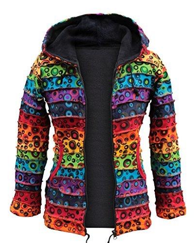SHOPOHOLIC FASHION Femmes Vif Bubble Veste Hiver Multicolore