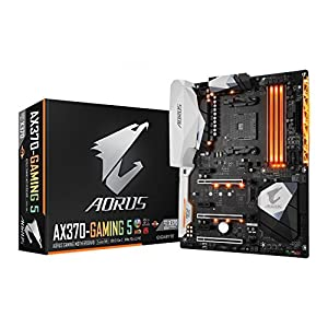 GIGABYTE GA-AX370-Gaming 5 AMD Ryzen CPU AM4 Socket DDR4 PCIe Gen 3 USB 3.1 GB LAN ATX Motherboard