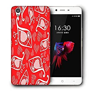 Snoogg White Birds Red Pattern Printed Protective Phone Back Case Cover For OnePlus X / 1+X