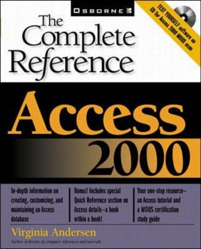 Access 2000: The Complete Reference by Virginia Andersen (1-Apr-1999) Paperback