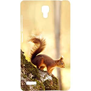 Casotec Squirrel Design Hard Back Case Cover for Xiaomi Redmi Note 4G