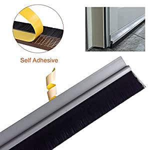 Bro aluminum under door bottom draught excluder sweep adhesive draft stopper weather stripping - Weather proofing your home with weather strips and draft stoppers ...