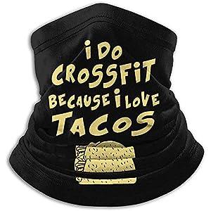 Merle House Neck Warmer Gaiter Ich mache Crossfit, weil ich Tacos Soft Microfiber Headwear Face Scarf Mask für Winter kaltes Wetter warm halten