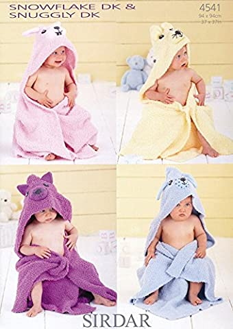 Sirdar 4541 Knitting Pattern Baby Blankets in Sirdar Snuggly Snowflake