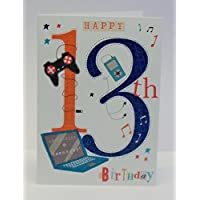 Abacus Cards Boy Age 13 Birthday Card