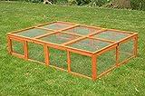 nanook Max - Freigehege Zum Anbau für Kaninchenställe, klappbares und verriegelbares Dach, Farbe: Natur