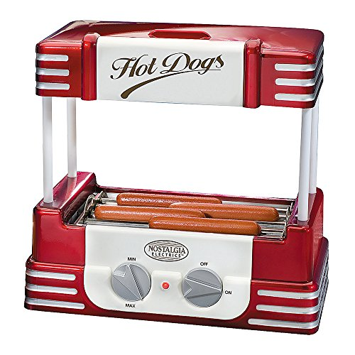 Nostalgia Hot-Dog Grill Roller Retro Hot Dog Maschine mit Grillblech