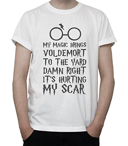 Tribute to Harry Potter My Magic Brings Voldemort to The Yard Mens T-Shirt