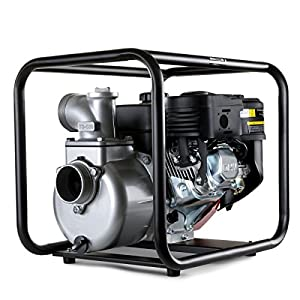 GREENCUT GWP200X – Motobomba de agua de gasolina 208cc y 7cv con caudal maximo de 30000l/h, aspiracion a 7m y altura de bombeo 23m