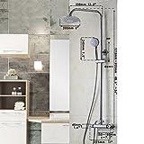 ddkd 20,3cm Badezimmer Thermostat Regendusche Kopfbrause Badewanne Dusche Wasserhahn Dusche Set Wasserhahn Armatur & runder Kopf
