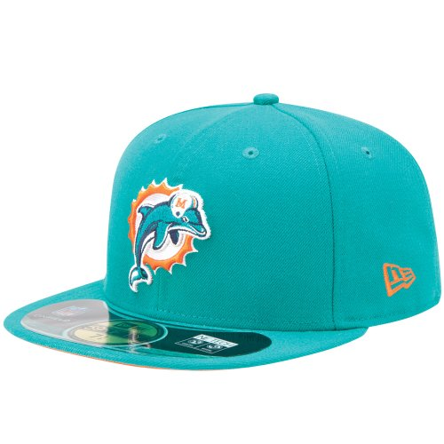 New Era NFL MIAMI DOLPHINS Authentic On Field 59FIFTY Game Cap, Größe:7 -