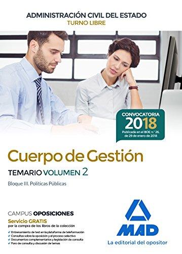 Cuerpo de Gestión de la Administración Civil del Estado(Turno Libre).  Temario volumen 2