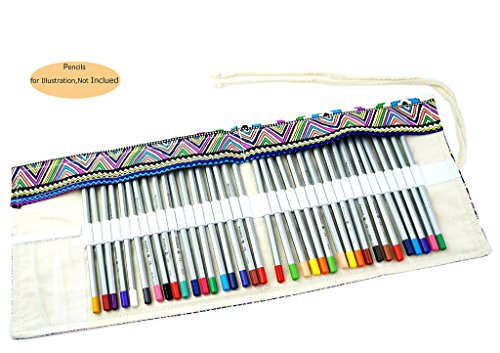 CROOGO Neuer Künstler Studenten Bleistifte Bleistift Kasten hält 48 Bleistifte Bohemien (Bleistifte NICHT enthalten)