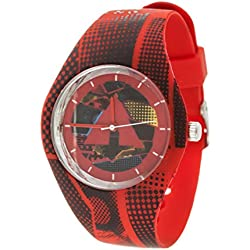 Airwalk Quartz Rubber and Silicone Casual Watch, Color:Red (Model: AWW-5091-RE)