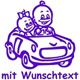 Babyaufkleber Autoaufkleber für Geschwister mit Wunschtext - Motiv G2-JM (16 cm)