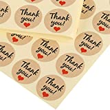 Kesote 1000 Pezzi di Adesivi Rotondi di Thank You Etichetta Adesiva di Grazie per Buste, Sacchettini Portaconfetti, Bomboniere, 3.5CM