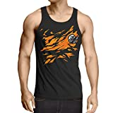 style3 Goku Brust Herren Tank Top songoku dragon z super saiyan turtle ball, Größe:XL