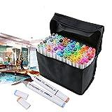 80 Farben Kunst set Alkohol Doppelte Unterwegs Künstler Phantombild Ständige Marker Pen Für Farbe Zeichnung Bild